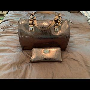 Michael Kors Gunmetal Michael Lord Grayson Bag